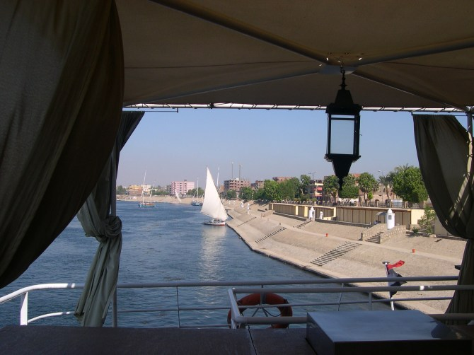 Sailing up the Nile