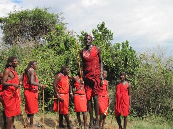 Masai Mara Warrior Jumping